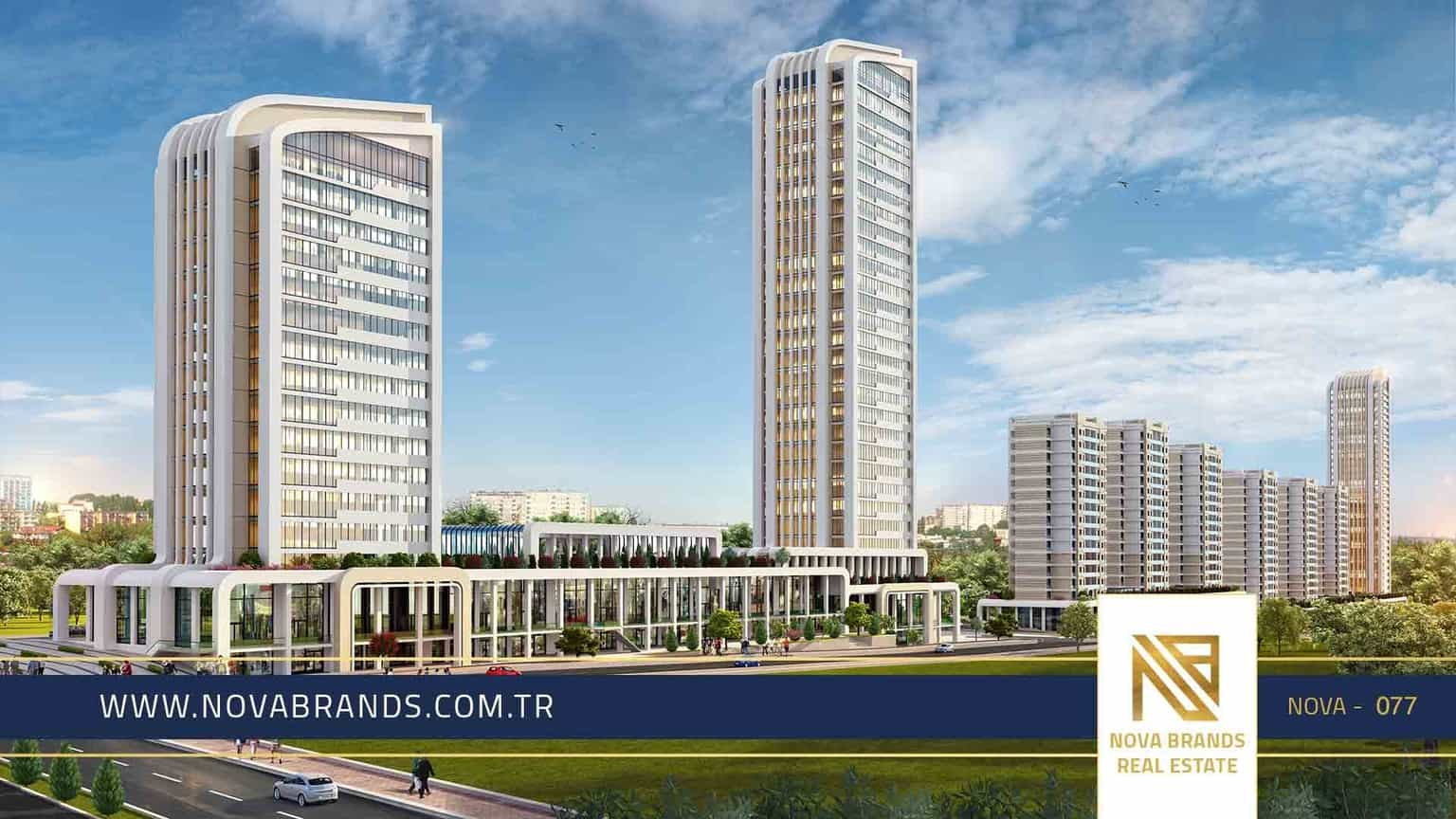 Bahcesehir project next to Istanbul main Road